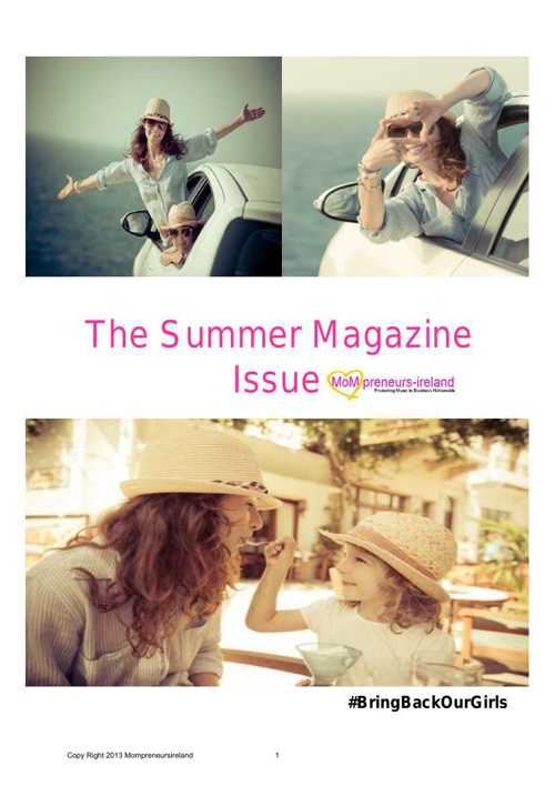 Mompreneursireland Summer E-Magazine