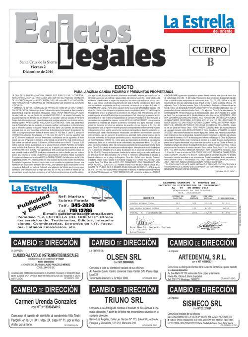Judiciales 2 viernes - diciembre 2016