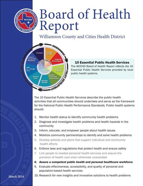 Board of Health Report March 2014