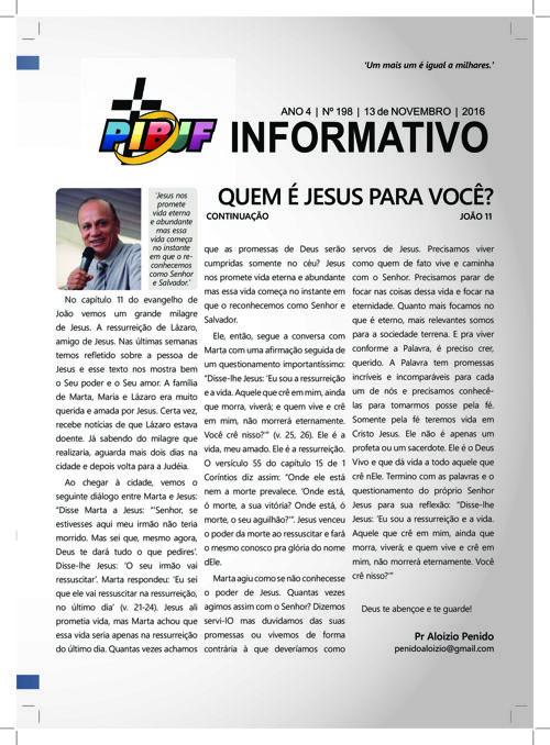 INFORMATIVO PIBJF 13.11.2016