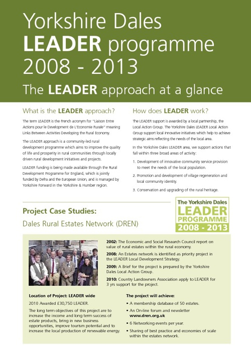 Yorkshire Dales LEADER Case Studies of funded projects