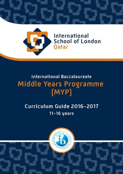 MYP Curriculum Guide 2016-2017