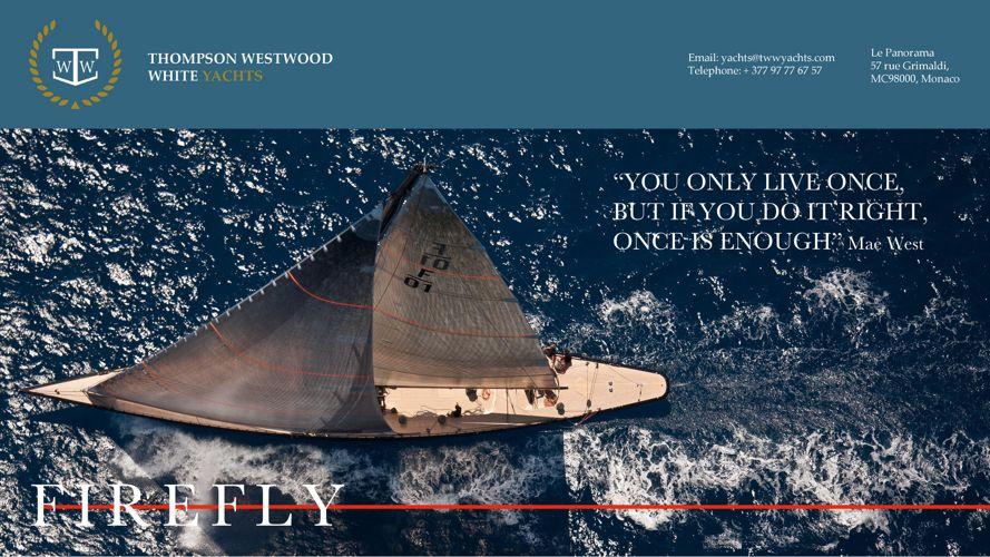 Firefly Experience 35m Hoek Design F Class sailing superyach