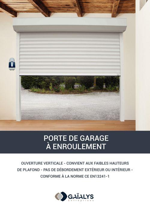 Catalogue porte de garage à enroulement