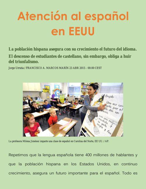 Atención al español en EEUU1