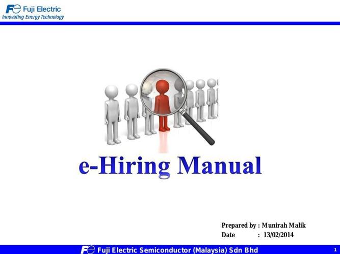 E-hiring Manual