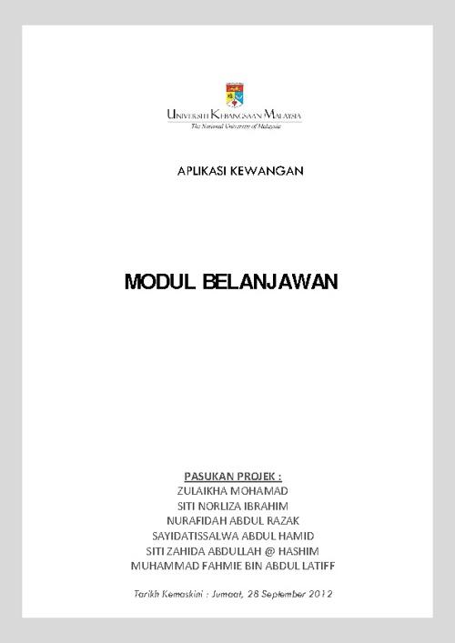 Manual Kewangan