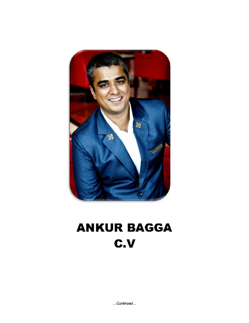 Ankur Bagga CV