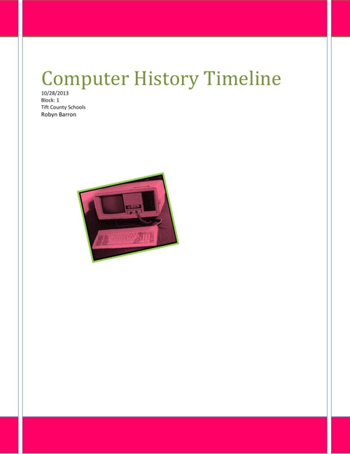 Computer and Electronics History