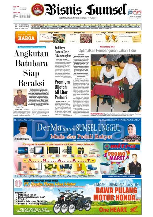 Radar Palembang Edisi 20-03-2013 Koran 2