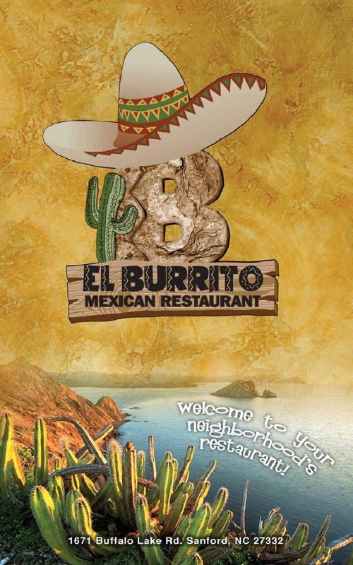 El Burrito Menu