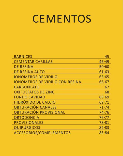 CEMENTOS - CAT. GRAL. 2015 CASA SCHMIDT