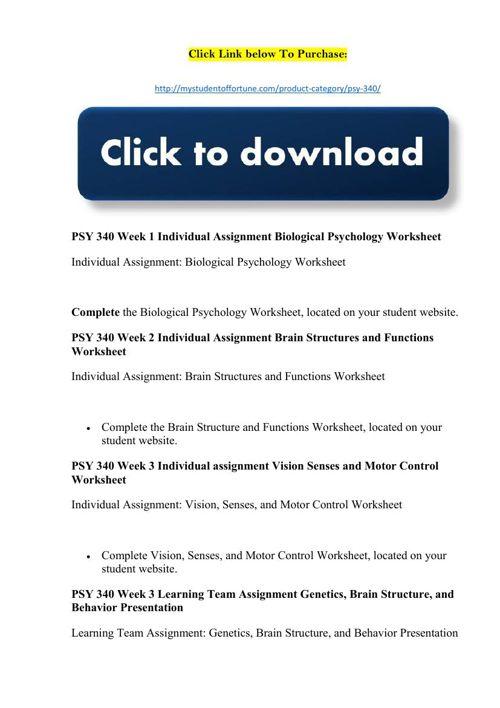 psy 340 biological psychology worksheet