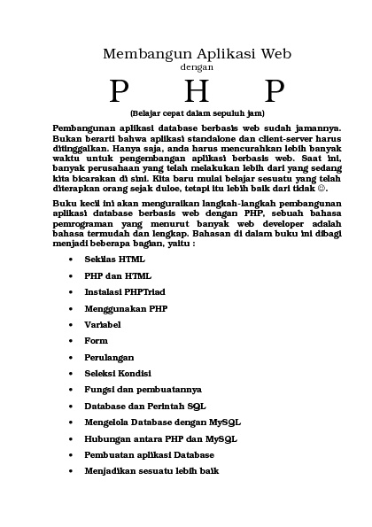 TUTORIAL PHP