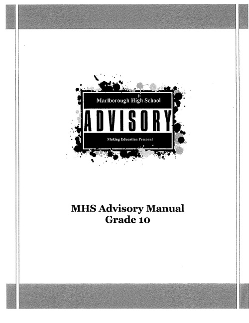 Marlborough High School Grade 10 Advisory Manual