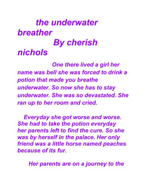 underwater breather