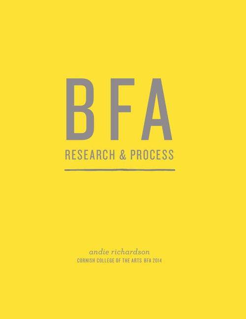 BFA ProcessBook