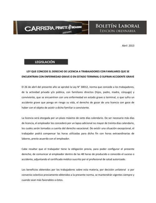 Carrera, Pinatte & Baca Alvarez Abogados