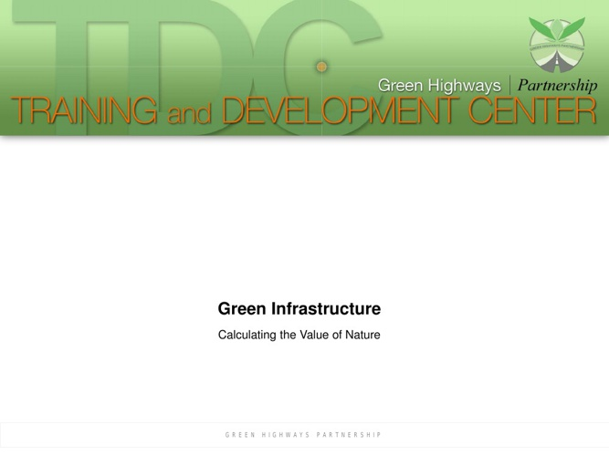 GHP TDC GREEN INFRASTRUCTURE
