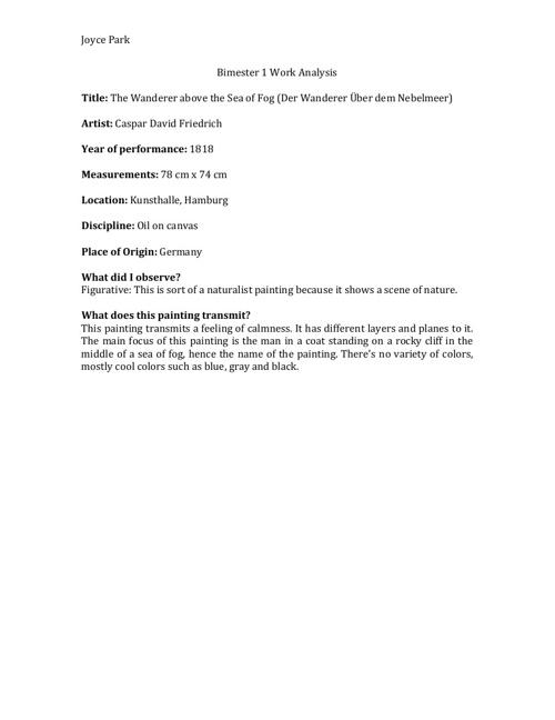 Bimester 1 Work Analysis