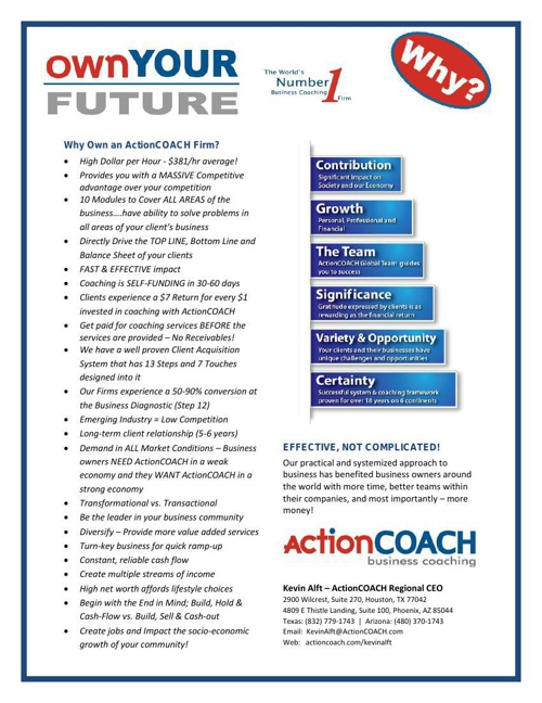Introduction to ActionCOACH Firm 2014