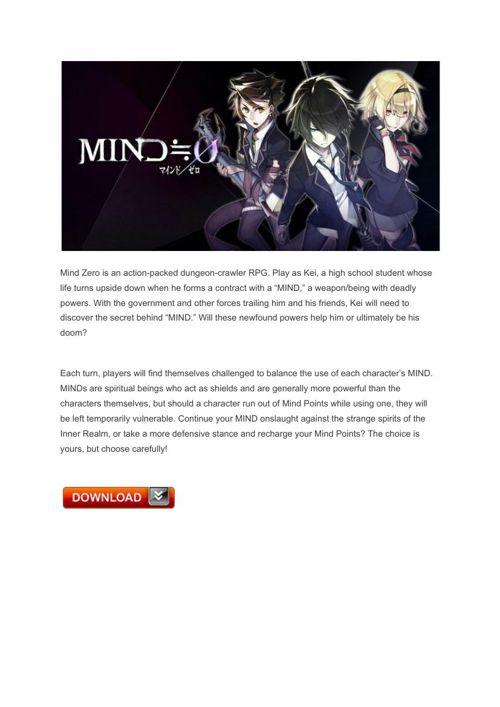 20 Mind Zero – PlayStationVita