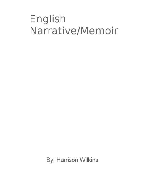 Harrison's English Narrative/Memoir