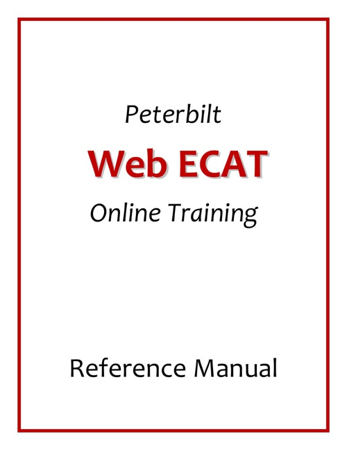 Peterbilt Web ECAT Reference Manual