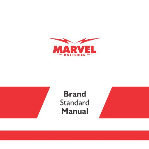 MARVEL BATTERIES - Brand Manual