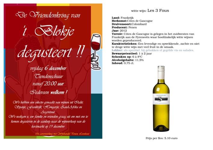 Wijnverkoop GBS 't Blokje 2013