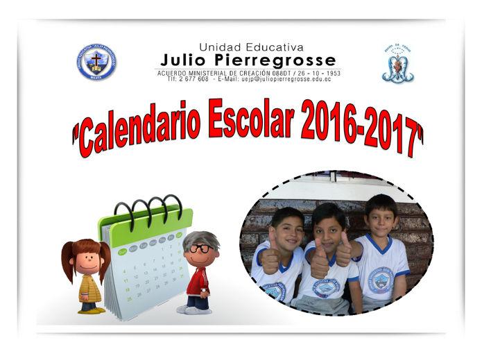 Horario Escolar  2016 -2017 - Unidad Educativa Julio Pierregross