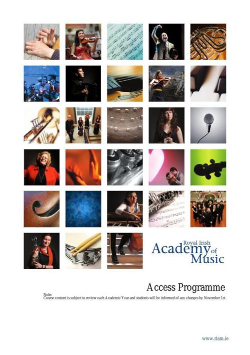 Access Programme Handbook 2012