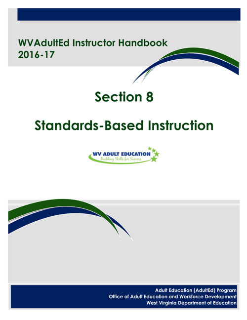 WVAdultEd Instructor Handbook 2015 - 2016 Section 8