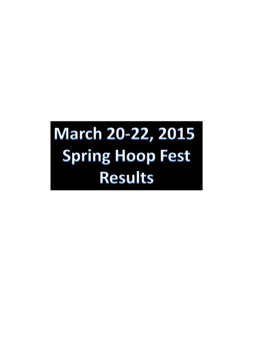 March 20-22, 2015  Spring Hoop Fest results