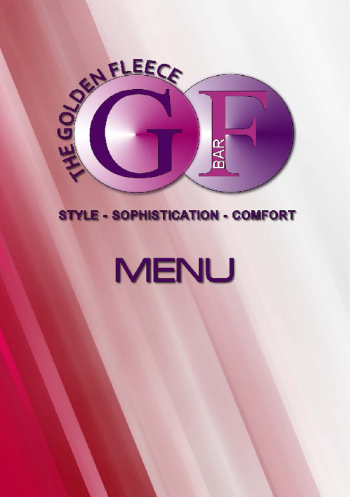 The GF Bar Menu