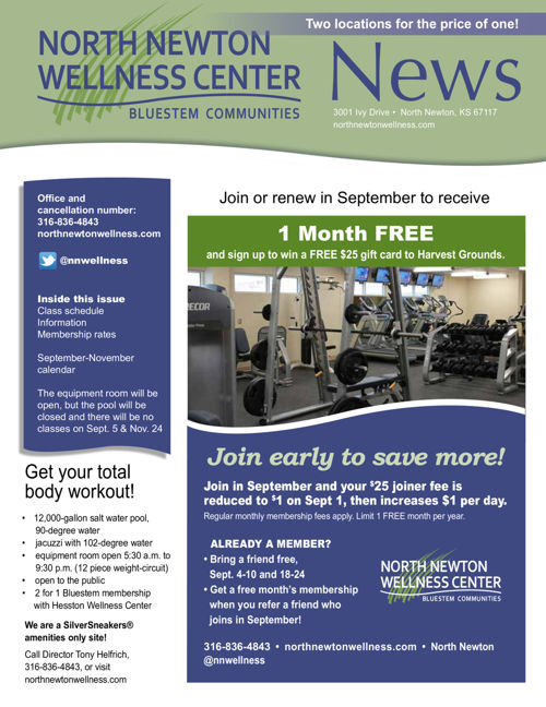 Fall 2016 | North Newton Wellness Center News