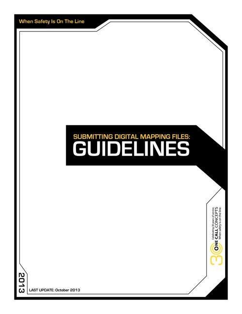 Digital File Submitting Guidelines for Facility Owners