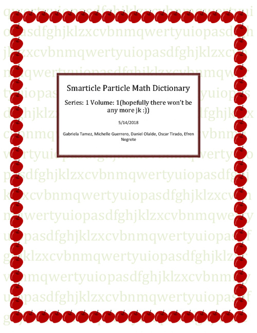 Smarticle Particle Math Dictionary