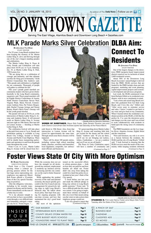 Downtown Gazette  |  January 18, 2013