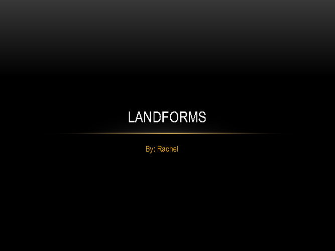 Mrs. Bradley's Bees Landforms 2011-2012