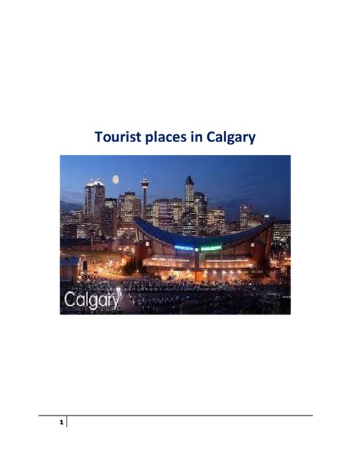 Tourist places in Calgary