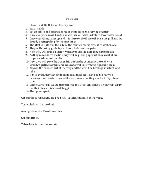 Copy of Copy of To Do List