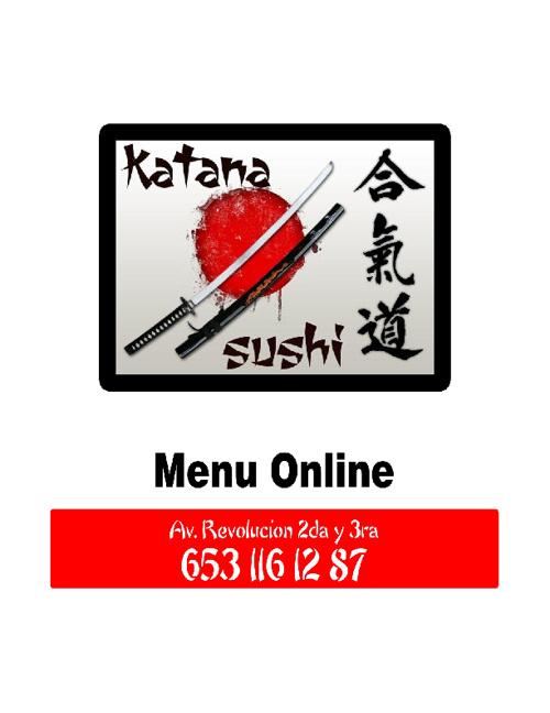 Menu Katana Sushi