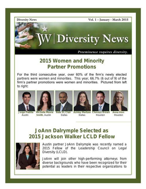 JW Diversity News - 2015