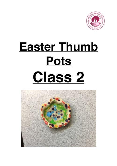 Easter thumb pots