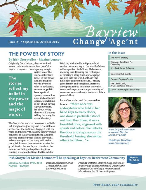 Bayview October 2015 Change 'Age'nt Newsletter