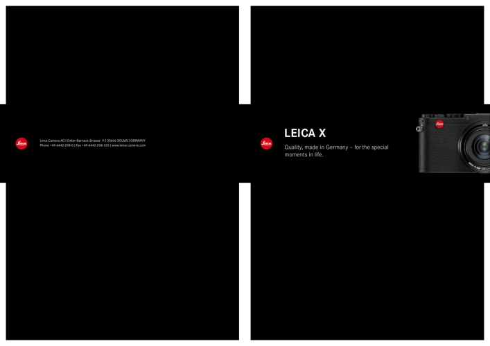 Leica X Brochure by Red Dot Cameras