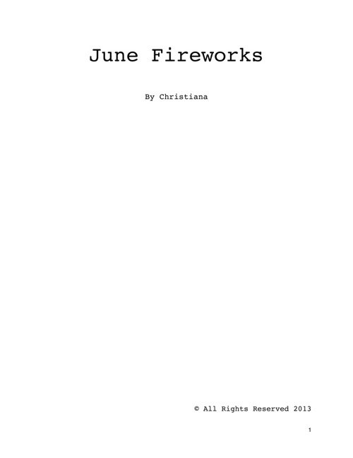 June Fireworks