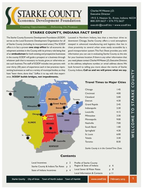 Starke County Demographics February 2013