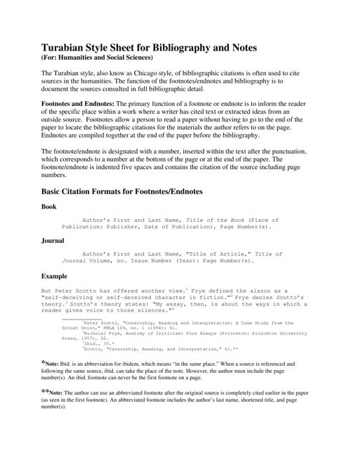 Tarubian Citation Style